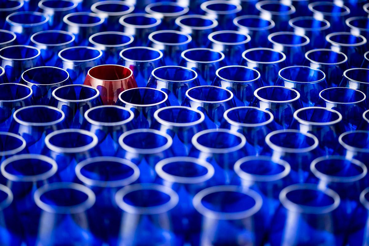 copas-de-cata-azules-y-una-copa-de-cata-roja
