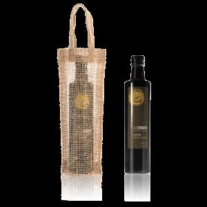 AOVE Sol Chiquito ecológico de cosecha temprana y bolsa de yute de regalo
