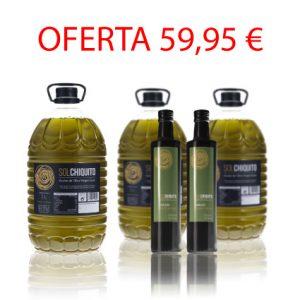 Oferta de 3 garrafas de AOVE picual y 2 AOVE arbequina de cosecha temprana