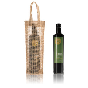 Early harvest Sol Chiquito arbequina extra virgin olive oil 0.5 L and jute bag