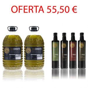 Oferta de aceite de oliva virgen extra sol chiquito campaña y cosecha temprana